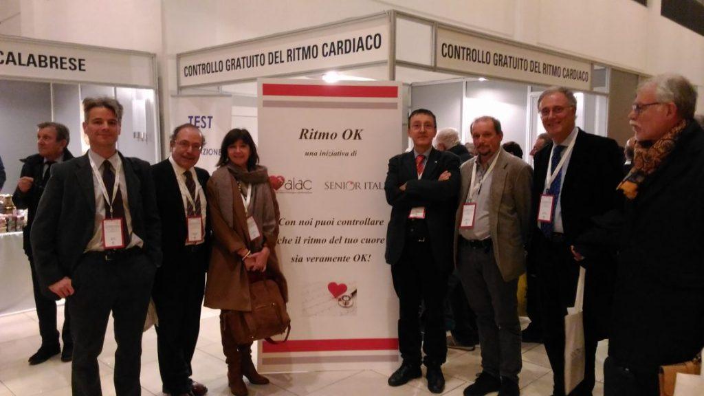 Alcuni dei rappresentanti AIAC al Congresso, di fronte allo stand. Da sinistra: Massimo Zecchin, Maurizio Santomauro, Emanuela Locati, Giuseppe Boriani, Nanni Malavasi, Renato Ricci, Maurizio Landolina.