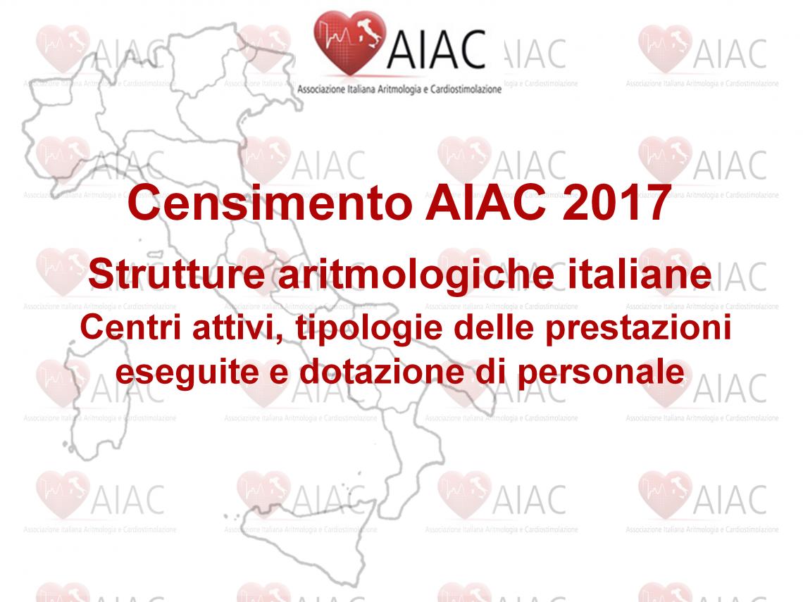 Censimento AIAC 2017