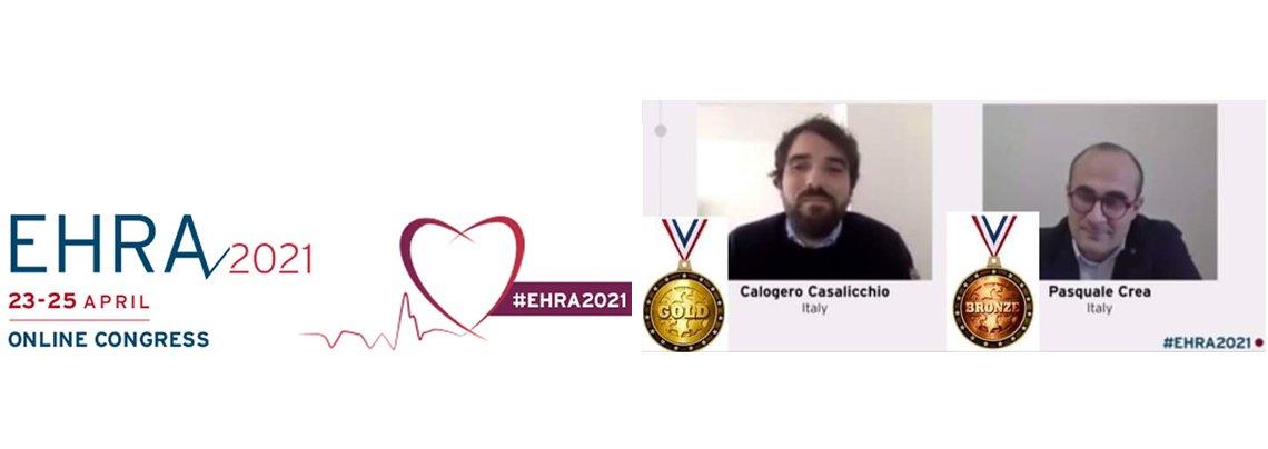 I giovani aritmologi italiani premiati ad EHRA 2021